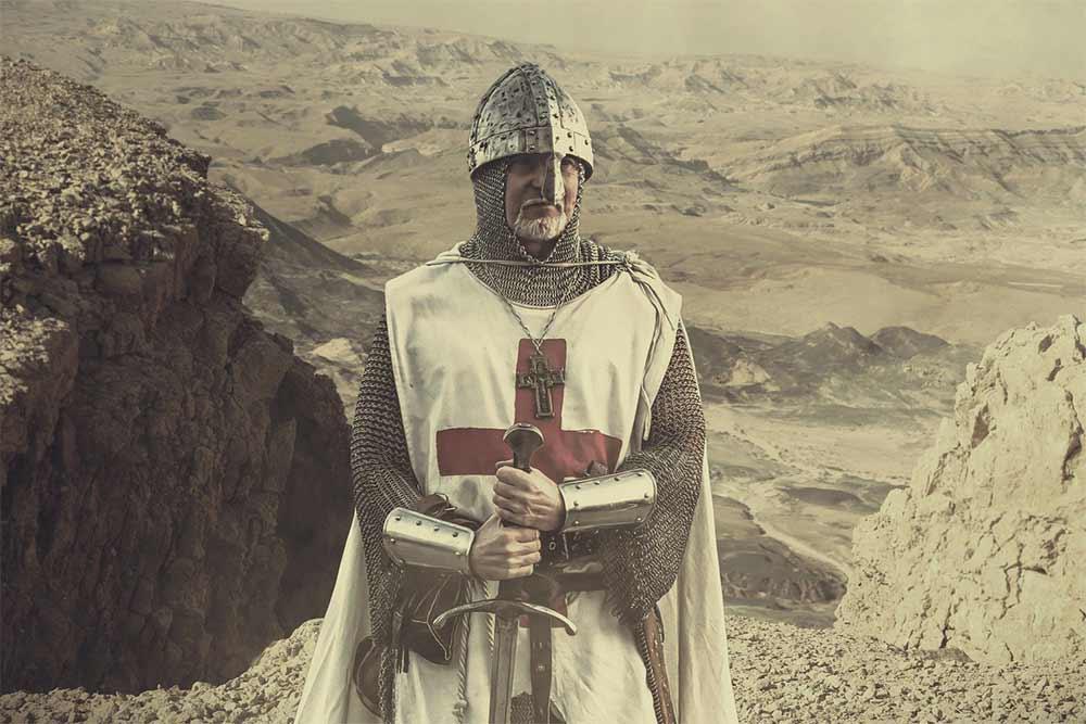 Un templier lors des croisades