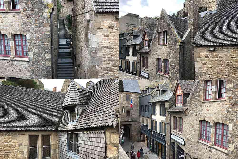 Il faut passer trois portes pour pénétrer dans le village du Mont-Saint-Michel